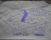 Straightedge dragon back patch, sxe purple green