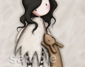 I Love You Little Rabbit - 8 x 10 Giclee Fine Art Print - Gorjuss Art