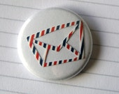 Mail Button, Airmail Badges Set, letter, write, mail