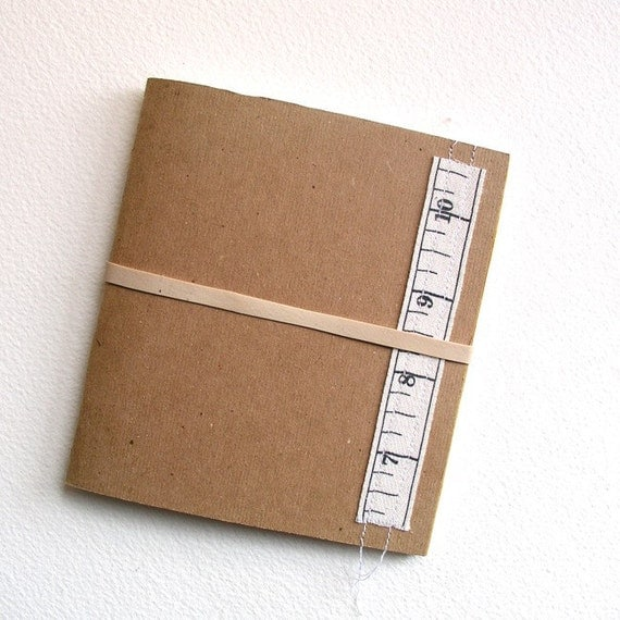 Mini Blank Book - measureing tape