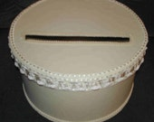 round wedding card money box, plain so you can decorate it