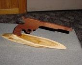 Replica Wooden 45 pisol on a Cedar Base