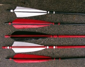 Red, Black and White Arrows set of 5 - FletcherandFox