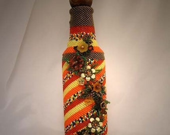 Beadwoven Fall Fiesta Bottle