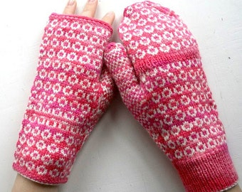 PDF Pattern Snooks Gloves - fingerless handwarmers and fliptop mittens pattern