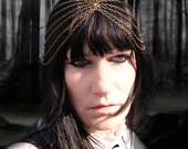 Chain Turban Headdress Head Piece Forest Gypsy Chic