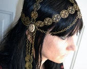 Art Nouveau Goddess Chain Headpiece Head Chain Headdress