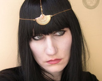 Sun Ra Art Deco Chain Headpiece Head chain Headdress