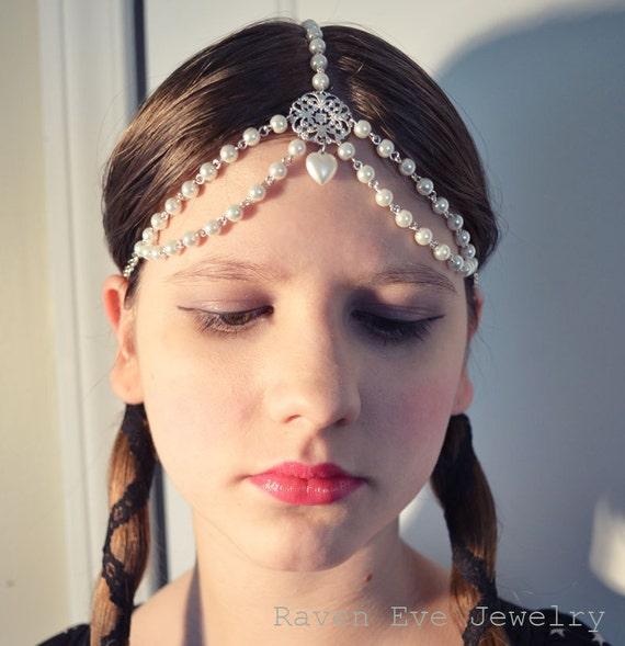 Pearl Empress Chain Headpiece  Head Chain Headdress