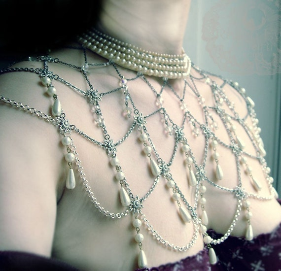 La Coquette Shoulder Jewelry Beaded Cape Custom made For You Amazing