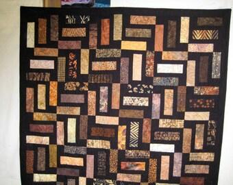Brown & Black Batik Bricks