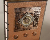 Journal - Copper Number Assemblage - coptic style blank book