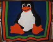 Linux Penguin Baby Blanket