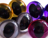 18mm Suncatcher Cat Eyes - Silver, Gold, Hot Pink, and Purple - Handpainted acrylic craft eyes