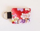SALE Mini key pouch - pink sakura