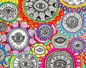 Spin - Original Psychedelic Abstract Art Drawing For Sale