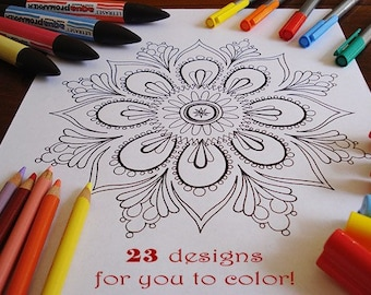 Mandala Coloring Pages - 23 Printable PDF Blank Mandala Designs to Print and Color