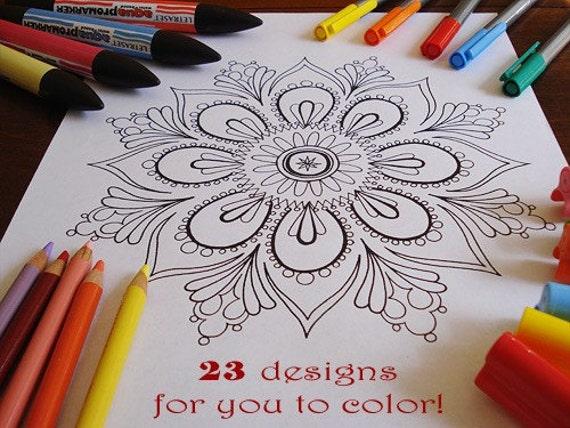 Mandala Coloring Pages - 23 Printable PDF Blank Mandala Designs to Print and Color