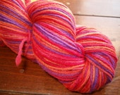 Hand Dyed Sock Yarn MIXED BERRY