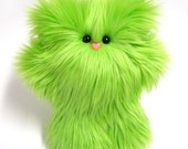 Plush Monster -- Petunia in Lime Green by Mint Conspiracy