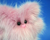 Petunia in Cotton Candy Pink -- Cuddly Plush Monster -- Last One in Stock