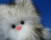 Stuffed Monster - One Big Wolfling - Gray and White Winter Edition - Last One in Stock