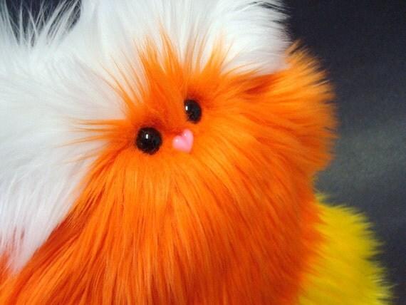 Halloween Plush Monster - Candy Corn Petunia - White / Orange / Yellow