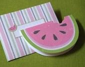 Yummy Watermelon Printable Digital PDF Card and Envelope