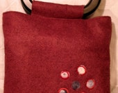Wine Wool Handbag