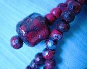 Ancient Sorrow is a wooden handpainted bracelet