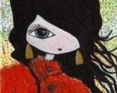 Gloria - Original mixed media artwork by Sylvia May