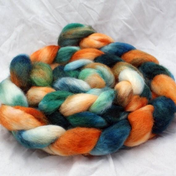 Rugby - BFL Wool Silk Roving - 4.9 oz