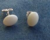 Oval Opal Stud Style Earrings