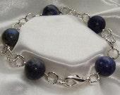 Lapis Lazuli Silver Plated Bracelet