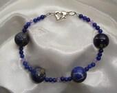 Blue Aventurine and Lapis Lazuli Bracelet-For Megumi