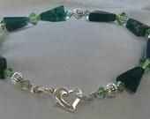Jade and Swarovski Crystal Bracelet-For Megumi