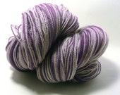 Handdyed Merino Wool Lace -Grape Ice - purple, lavender - Elegant Lace
