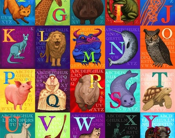 Animals, Beasts and Creatures - An Amazing Alphabet 12x18 signed