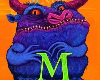 M Monster Alphabet Print 8x10 Signed