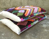 On hold for Magdalena- Vintage Maya Indian Textile Bolster Pillows -set of 2-