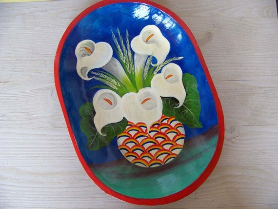 Hand Painted Lily Tray
