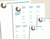 Sweet Otter - Printable Recipe Cards Meal Planning Kit