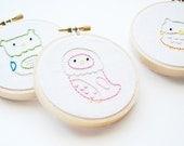 Little Owls - Bird Mini Embroidery Pattern