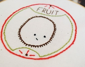 PDF Embroidery Pattern - Fruit Produce Pals