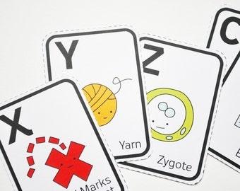 ABC Teeny Tinies - Printable Alphabet Flash Cards