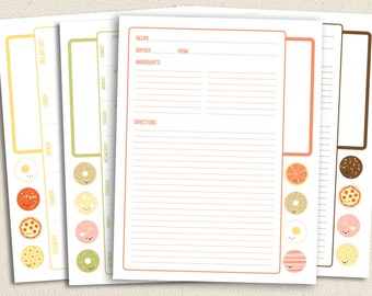 Not-So-Square Meals - Printable Recipe and Menu Planning Pages