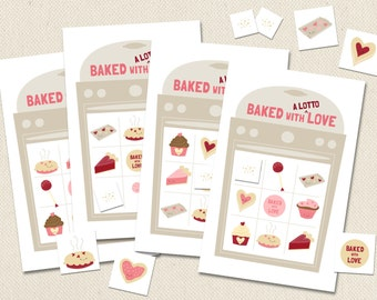 Baked with a Lotto Love - Printable Valentine's Bingo Game
