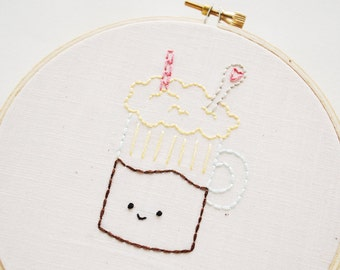 Soda Shop - Digital Hand Embroidery Pattern