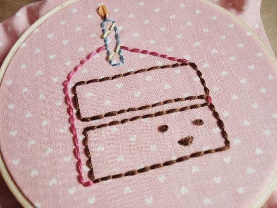 PDF Embroidery Pattern - Happy Birthday