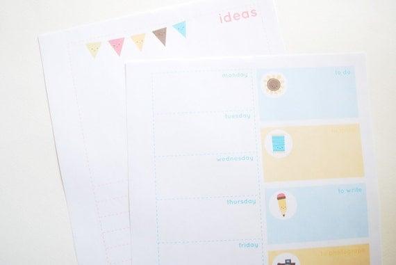 Blog Buddies - Printable Blogging Planner Pages Calendar